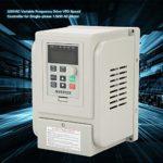 Entraînement à fréquence Variable,CA 220V 1.5kW Variateur de Vitesse VFD pour Moteur monophasé,Onduleur monophasé avec Grand radiateur,Convertisseur de Moteur