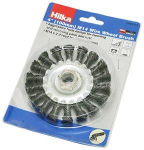 Hilka 51960114 Roue métallique pinceau – 100 mm