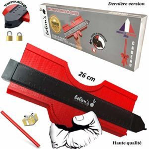 Jauge de contour verrouillable-copieur de forme omnigauge 26 cm de profil-outil mesure duplicateur kit pose parquet carrelage