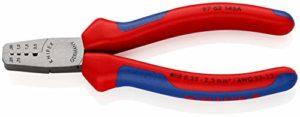 KNIPEX 97 62 145 A Pince à sertir pour embouts de câble avec gaines bi-matière 145 mm