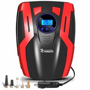Mini Compresseur Pneumatique Compresseur d'Air Rechargeable Automatique pour Moto Voiture etc Des Pneus avec l'éclairage Multifonctionnel d'écran 150PSI 35L / MIN d'Affichage à Cristaux Liquides