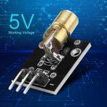 Module émetteur Laser, 4Pcs 5Mw 650Nm Module émetteur Laser Module de diode Laser à Point Rouge pour Les projets de capteur Laser
