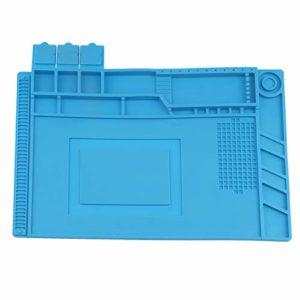 OTOTEC Tapis Anti-Statique Coussin Silicone Isolation Thermique Statique Résistant à la Chaleur 500 ? pour Outil de Fixation Mobile Réparation Soudure Téléphone