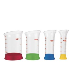 OXO Good Grips 4-Piece Mini Measuring Beaker Set by OXO Cook's Tools