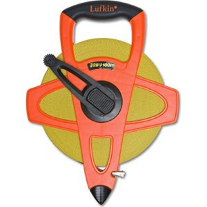précis MIS Lufkin en fibre de verre 100metre/330mètres de long ruban à mesurer [Lot de 1]–W/3Yr Rescu3® Garantie