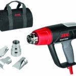 Skil Masters 8007MA Pistolet Air Chaud / Décapeur Thermique Digital avec Température réglable variable (2000W, LCD, 4 Buses, Sac de Transport)