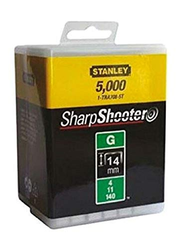 Stanley 1-TRA709-5T Lot de 5 000 agrafes robustes de type G 14 mm