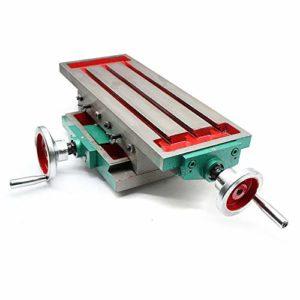 Table fraisée cruciforme de croix de précision, table de travail, fraisage, fraisage, cruciforme, table cruciforme, table