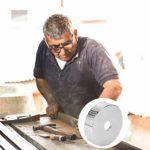 ULTECHNOVO Disques de Meulage en Bois Meule en Acier à Haute Teneur en Carbone pour La Sculpture de Sécurité
