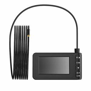 Wakauto Caméra D'inspection 4. Endoscope-Endoscope Industriel de 3 Pouces Câble de 5 M Écran D'affichage D'image HD 1080P Verre Trempé Étanche