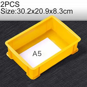 Zhaodong Papeterie 2 PCS Boîte à matériaux multifonctions épais Tout neuf Boîte à outils en plastique for boîte à pièces en plastique, taille: 302 mm x 209 mm x 83 mm (bleu) Zhaodong