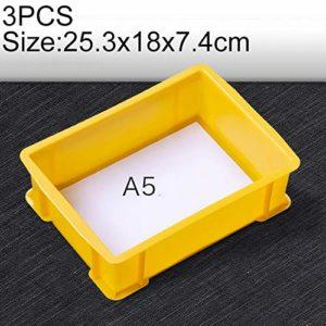 Zhaodong Papeterie 3 PCS Boîte à matériaux multifonctions épais Tout neuf Boîte à outils en plastique for boîte de pièces en plastique, taille: 253 mm x 180 mm x 74 mm (bleu) Zhaodong