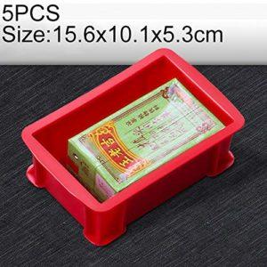 Zhaodong Papeterie 5 PCS Boîte à matériaux multifonctions épais Tout neuf Boîte à outils en plastique for boîte à outils en plastique, taille: 156 mm x 101 mm x 53 mm (bleu) Zhaodong (Color : Red)