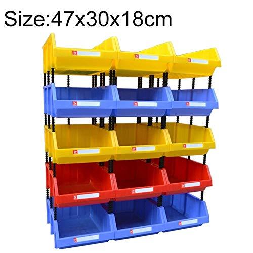 Zhaodong Papeterie Épaissie Boîte en plastique Oblique Combinaison de pièces de boîte, Boîte de matériel de couleur aléatoire, livraison, taille: 470mm x 300mm x 180mm Zhaodong