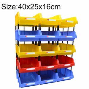 Zhaodong Papeterie Épaissie Boîte en plastique Oblique Combiné de pièces de boîte, Boîte de matériel de couleur aléatoire, livraison, taille: 400mm x 250mm x 160mm Zhaodong