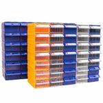 Zhaodong Papeterie Épaissie Combinaison de pièces en plastique Type de tiroir de boîtier Composant Bloc de construction Matériau Bloc de matériel de boîte, Boîte de matériel de couleur aléatoire, Tail