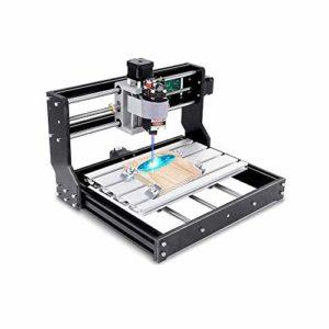 2-in-1 CNC 3018 Pro Machine de Gravure Laser, TOPQSC GRBL CNC Router Graveuse 3 Axe Plastique Acrylique Bois PVC Acrylique, Zone de gravure 300x180x45mm, Module laser 15000mW
