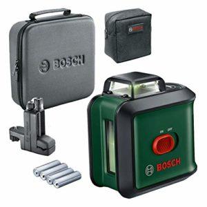 Bosch Laser Lignes UniversalLevel 360 Flexi Set (Laser Vert, Portée : jusqu'à 24 m, Précision : ± 0,4 mm/m, Auto-Nivellement : jusqu'à ± 4°, Pince Universelle MM 3, dans Housse Souple)