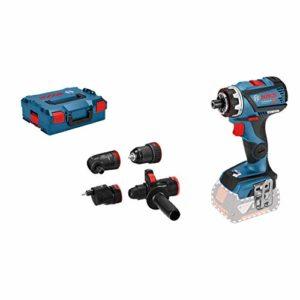 Bosch Professional 06019G7103 18V System Perceuse-visseuse sans-fil GSR 18V-60 C (FlexiClick, 4 Adaptateurs, Couple Maxi : 60 Nm, Diamètre de Vissage Maxi : 10 mm, Connect Ready, sans Batterie)