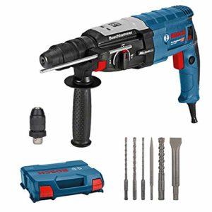 Bosch Professional 061126760G GBH 2-28 F (880 Watt, Diamètre de Perçage du Béton Max : 28 mm, y Compris Jeu de 6 Ciseaux Perforateurs, SDS-Plus, dans Une L-Case) -Édition Amazon, Bleu