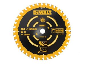 Dewalt DT10303-QZ Lame de scie portative 40WZ, Argent, 184/16mm