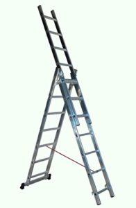 Escalux – Echelle transformable en Aluminium semi-pro 3 x 7 Haut travail 5.09 m – Escalux TR3