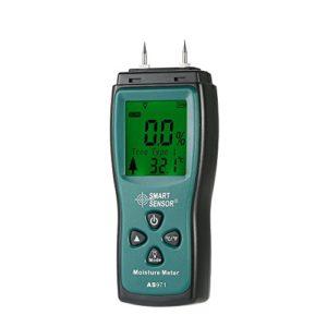 Fesjoy Humidimètre Mini Humidimètre numérique LCD Bois Humidificateur Testeur Testeur 2 broches Plage de 2 % ~ 70 %