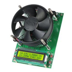 Fesjoy Module de test de capacité de décharge de batterie 150 W à courant constant 60 V 10 A avec écran LCD 1602