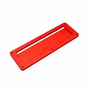 Fesjoy Scie électrique de table, scie circulaire pliante en alliage d'aluminium, plaque de protection spéciale intégrée, réglable de 45 à 90 degrés