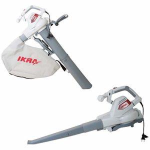 IKRA aspirateur-souffleur-broyeur électrique ILS 3000 E, vitesse de soufflage 300 km/h, 3000W