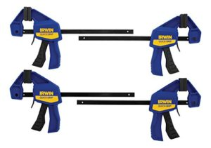 IRWIN QUICK-GRIP One-Handed Mini Bar Clamp Set, 6, 4 Pack, 5464 by Irwin Tools