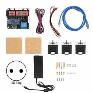 Kit de machine à graver système de contrôle de fraiseuse accessoires ensemble bricolage Laser graver moteur 100-240 V(EU Plug)