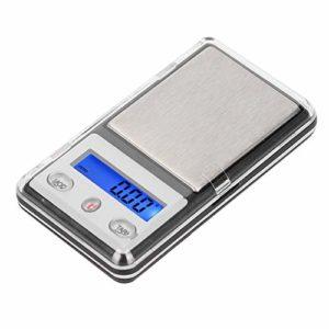 Pèse-personne portable de précision de 0,01 g, noir, pour les fabricants de bijoux Amoureux de la bijouterie Amoureux de la bijouterie et réparateurs de bijoux(200g/0.01g)