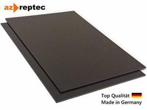 Plastique plaque ABS 2mm Noir 300x200mm (30x20cm) Acrylonitrile Butadiène Styrène – Fabriqué en Allemagne – Film de protection unilatéral – Top qualité!