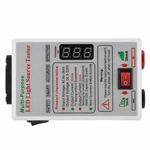 VBESTLIFE Testeur Courant de LED LCD TV, Outils Ajustement de Tension EU 85-265V adapté à l'inspection et à la Maintenance de téléviseurs à LED (GJ3C)