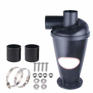 Vinteky Collecteur séparateur de poussière en plastique, avec filtre, extracteur de poussière professionnel, cyclone, pour aspirateur avec base bride de sol, noir