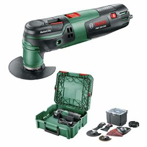 Bosch Home and Garden Outil multifonction Bosch – PMF 250 CES SystemBox (250W, livré avec: jeu d'accessoires universel, dans SystemBox   taille S)