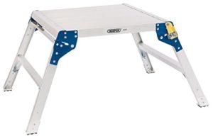 Draper 839962Step carré en aluminium plate-forme de travail, Argent