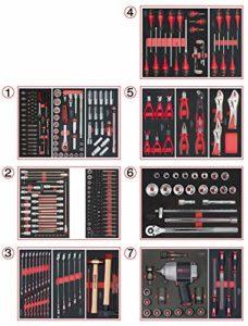 KS TOOLS 714.0337 Composition d'outils 7 tiroirs pour Servante d'Atelier-337 pièces
