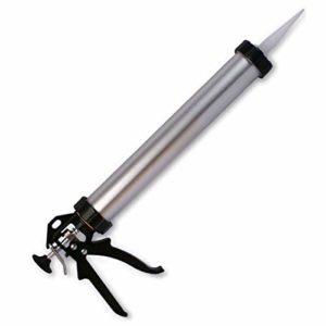 Pistolet professionnel d'emblème fermé pour l'application de résines et gel – 600 ml