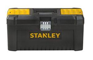 Stanley STST1-75518 Boite À Outils Plastique avec 2 Organiseurs Sur Le Couvercle – Plateau Porte-Outils – Larges Attaches métalliques – Cadenassable – Dimensions: 406mm x 205mm x 195mm