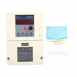 ZYL-YL Variateur de fréquence, Entrée monophasée / 3 Phase AC380V de Sortie Variable Convertisseur de fréquence Convertisseur de Vitesse du Ventilateur Contrôleur (0.75KW)